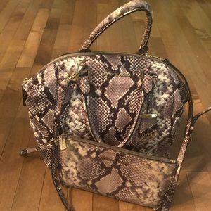 Michael Kors Selma Snake Leather Satchel